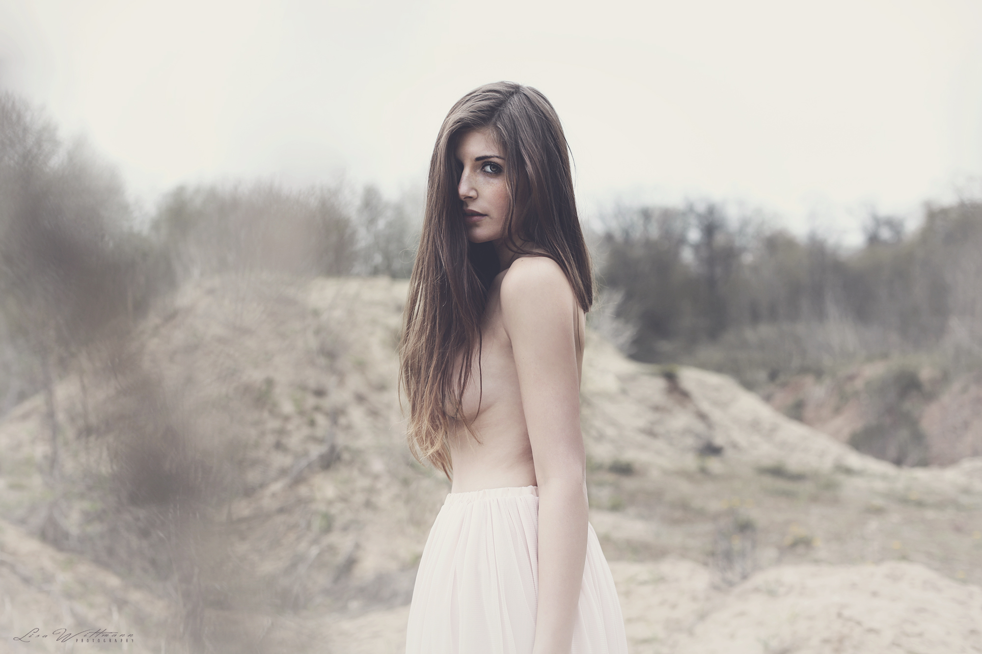 lisa_wittmann_photography_woman_nude_pastel_vintage_long_hair_tulle_sand
